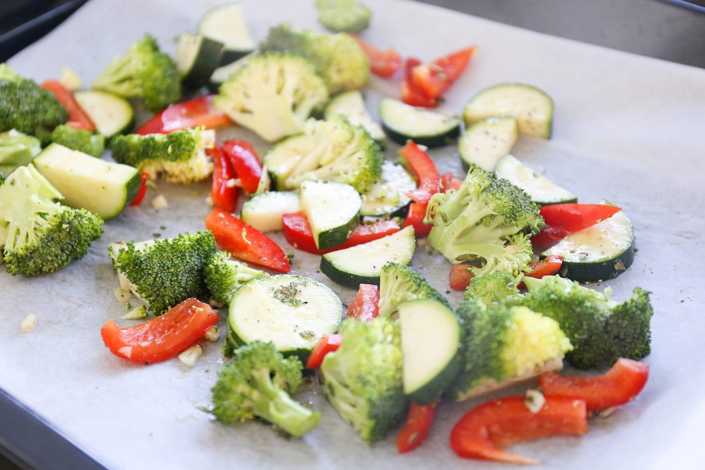groenten op de bakplaat