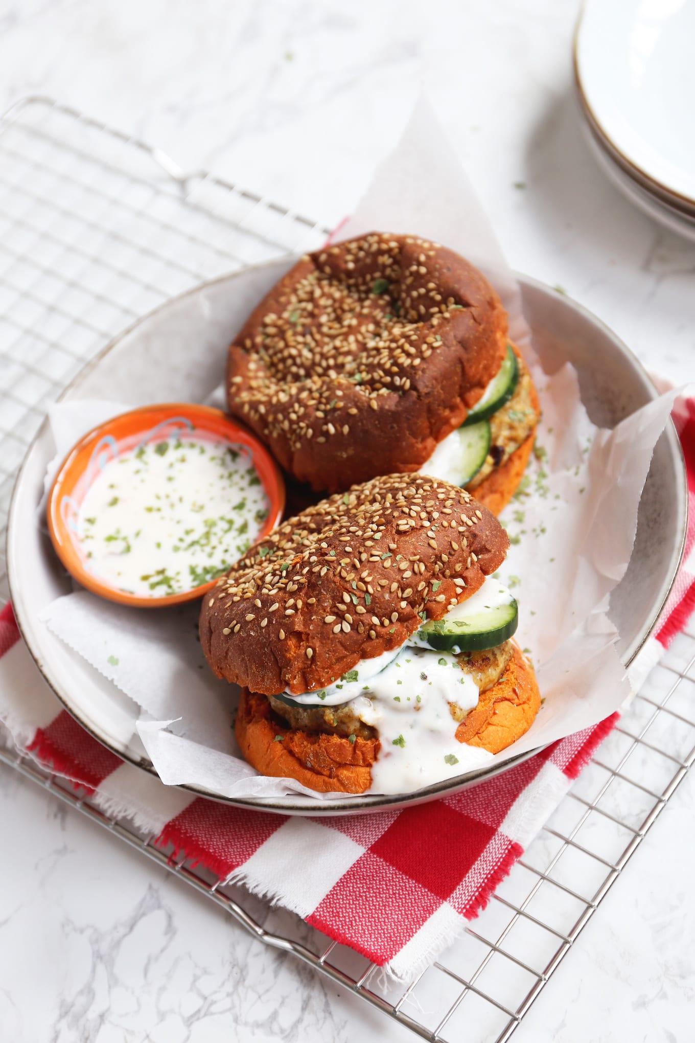 Tandoori kipburger