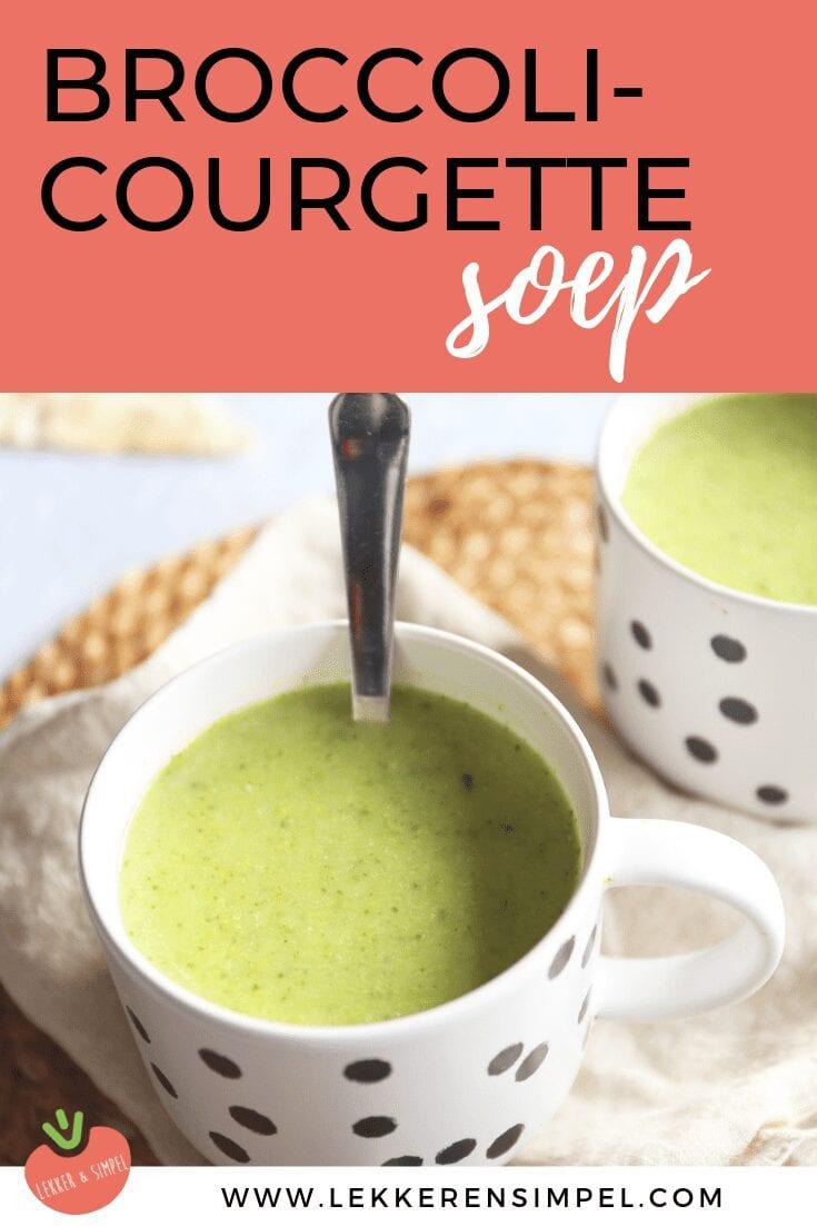 Broccoli-courgette soep