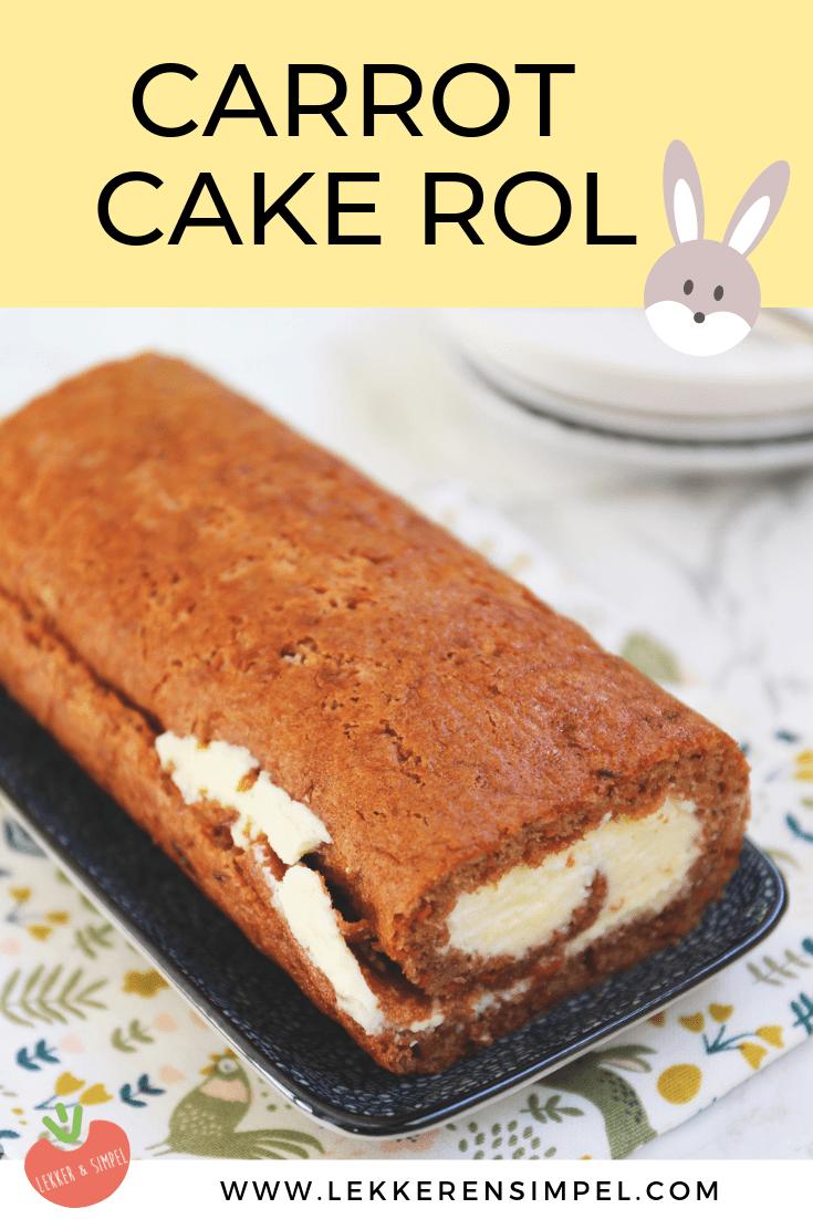 Carrot cake rol