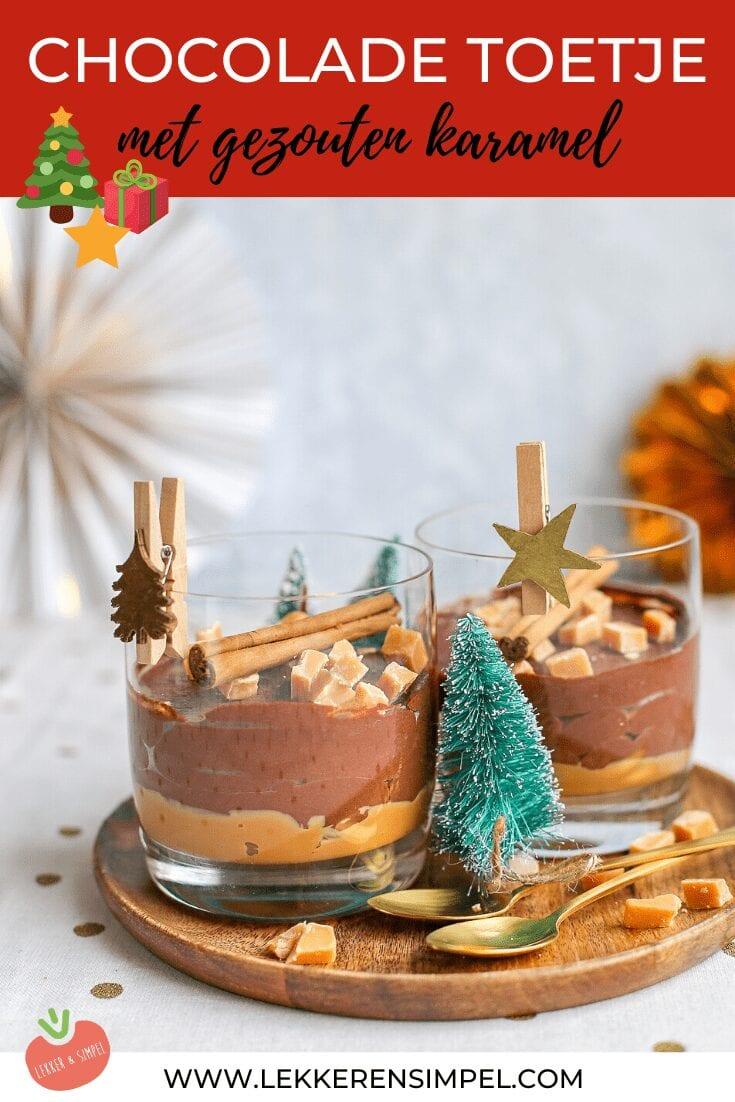 chocolade toetje met gezouten karamel