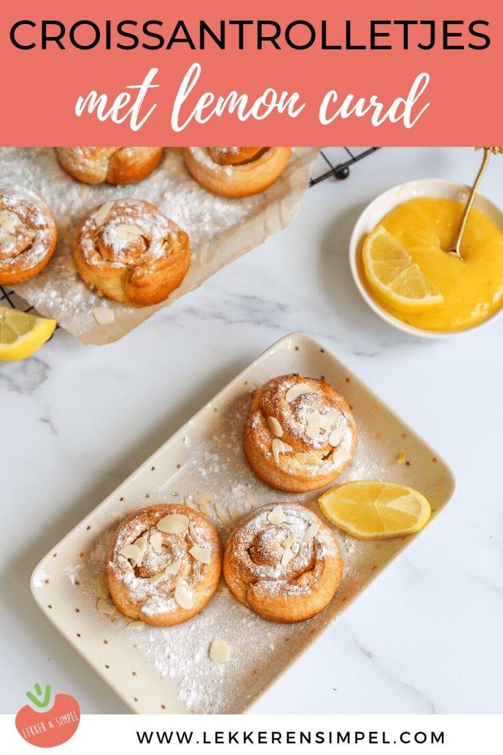 Lemon curd croissantrolletjes