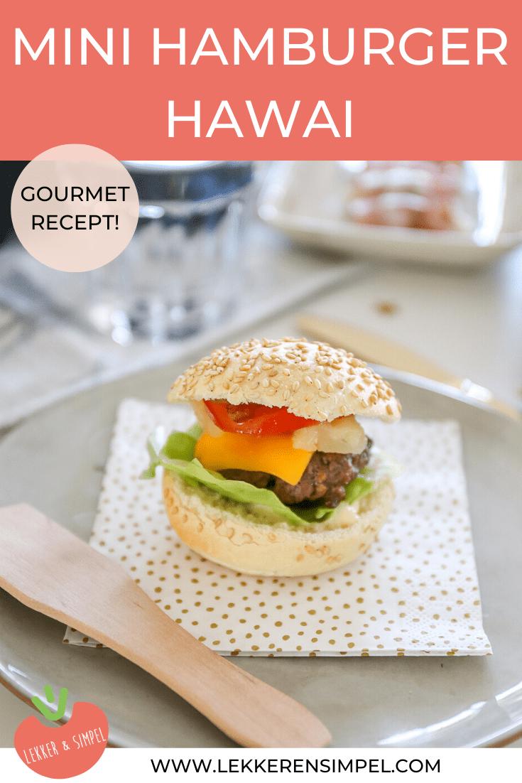 Mini hamburgers hawai