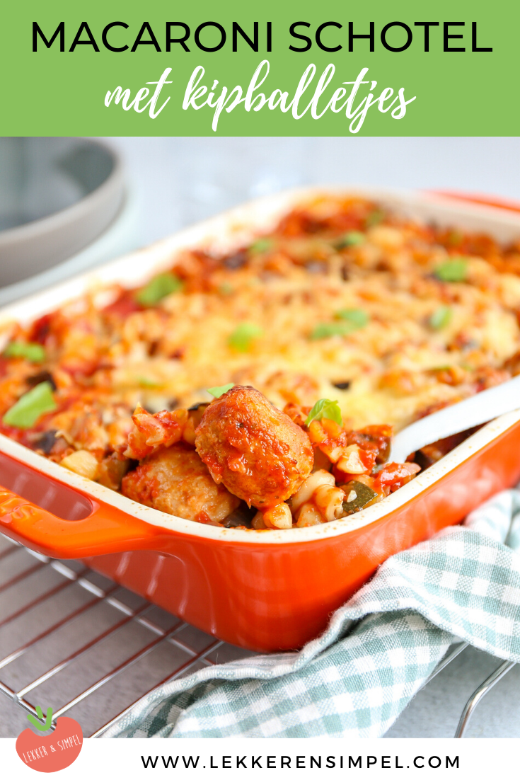 Italiaanse ovenschotel met macaroni