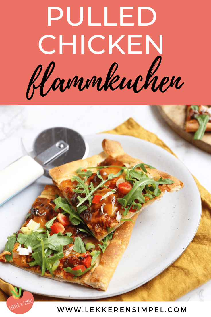 Flammkuchen met pulled chicken