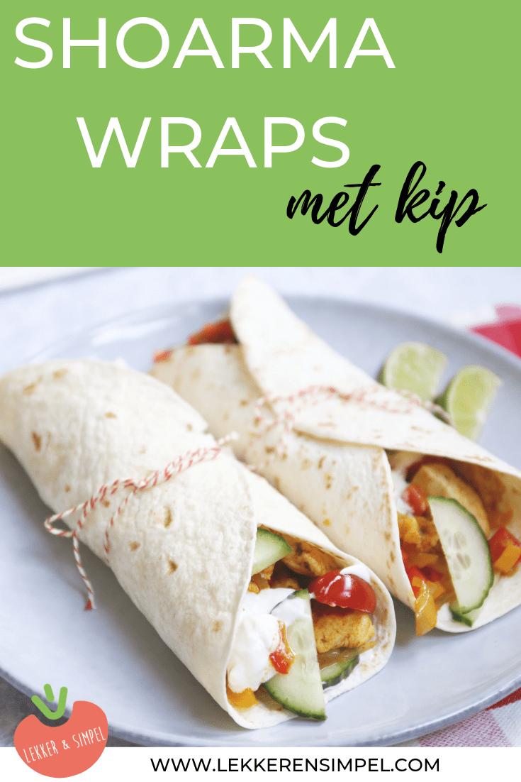 Shoarma wraps met kip