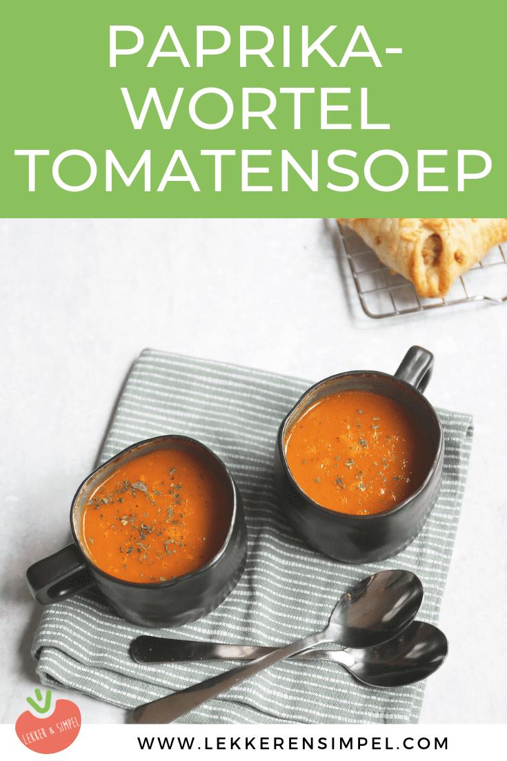 Paprika-wortel tomatensoep