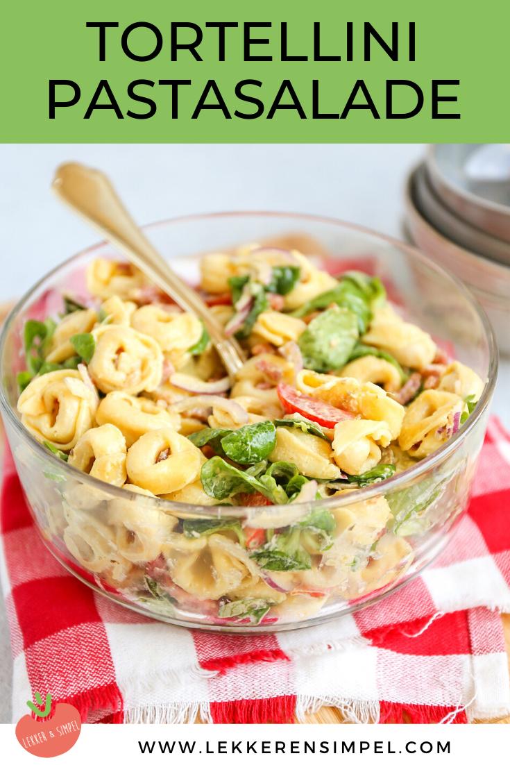 Tortellini salade met spekjes