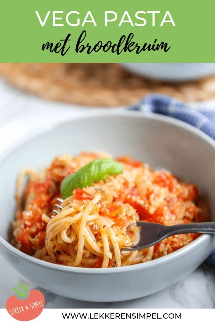 Spaghetti met broodkruim
