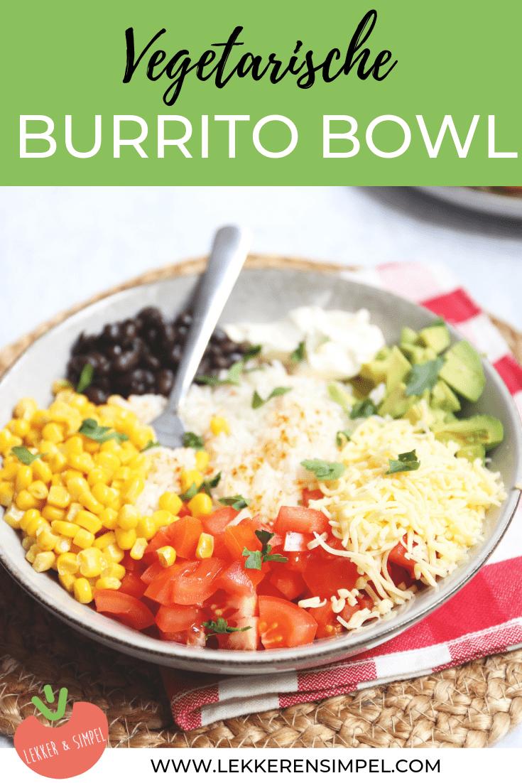 Vegetarische burrito bowl