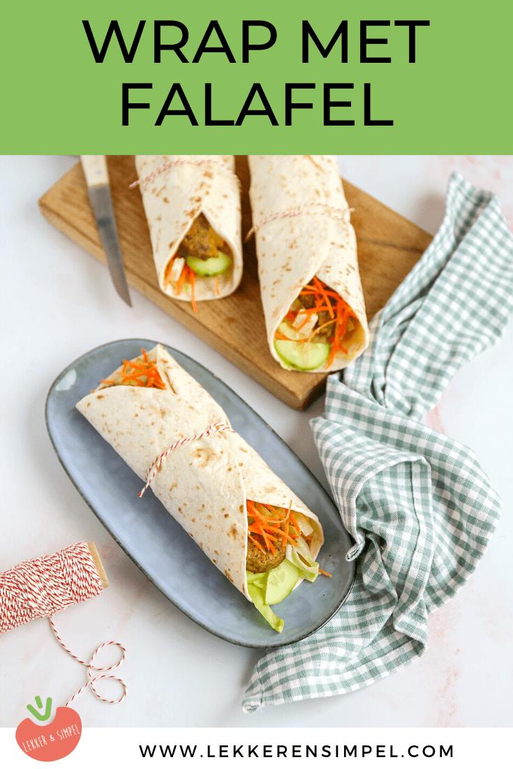 Wrap met falafel en feta