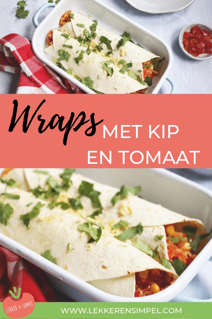Wraps met kip en tomaat