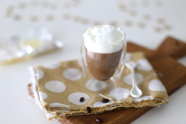 Witte-chocolade koffie