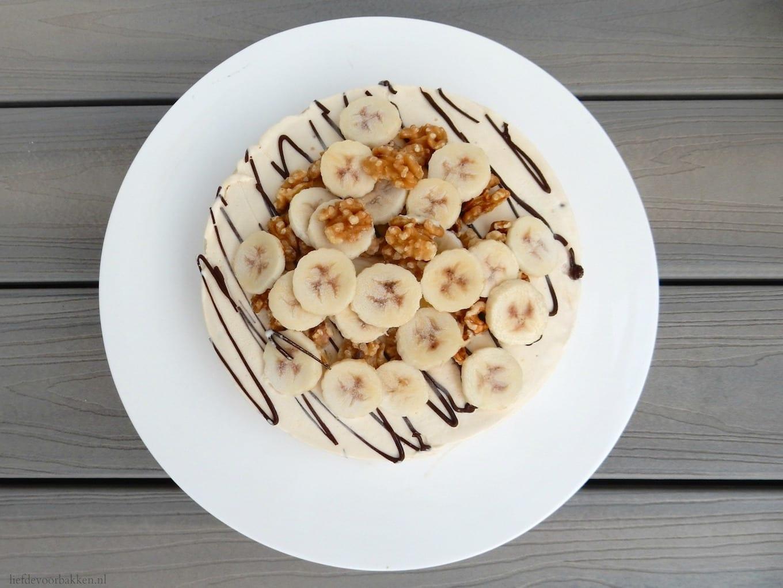 IJstaart met walnoot en banaan