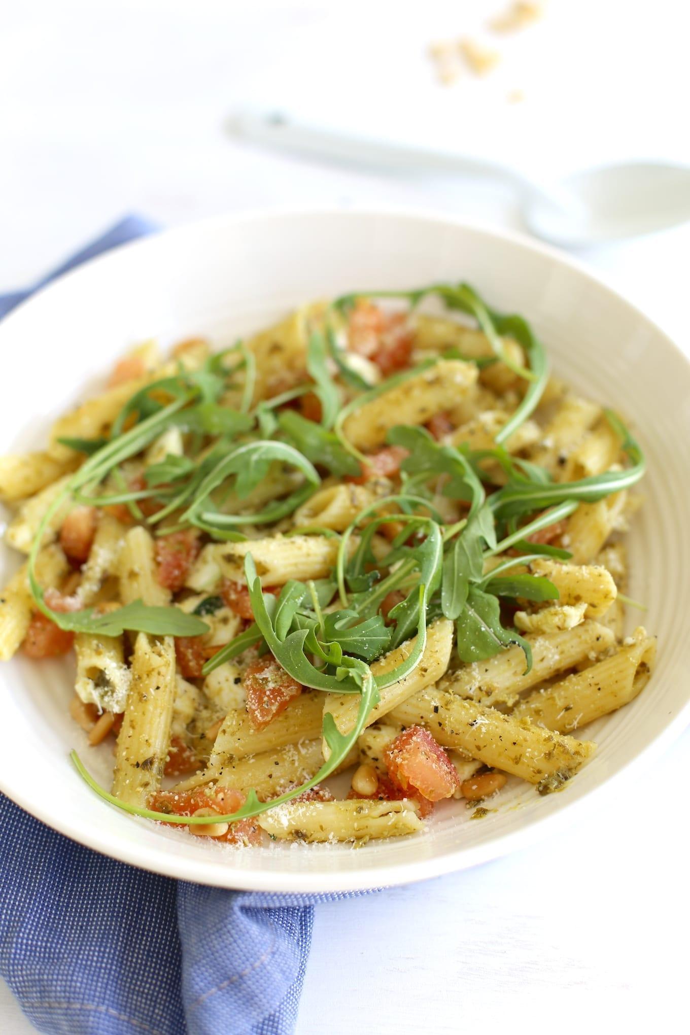 Caprese pastasalade