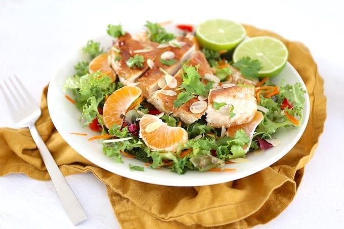 Frisse salade met kip en mandarijn