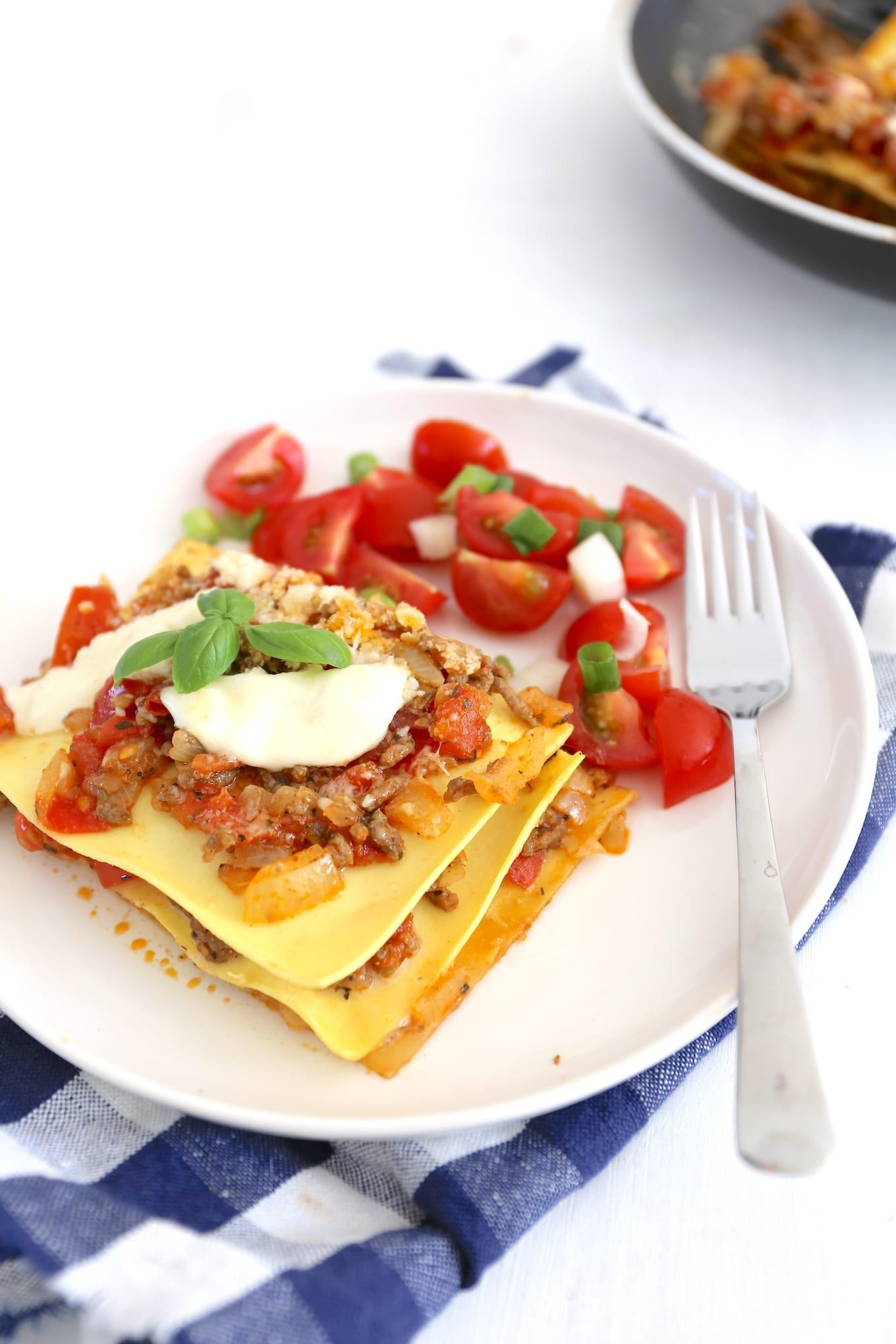 Zomerse pan lasagne