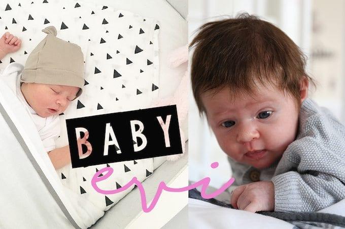 Video: maak kennis met baby Evi!