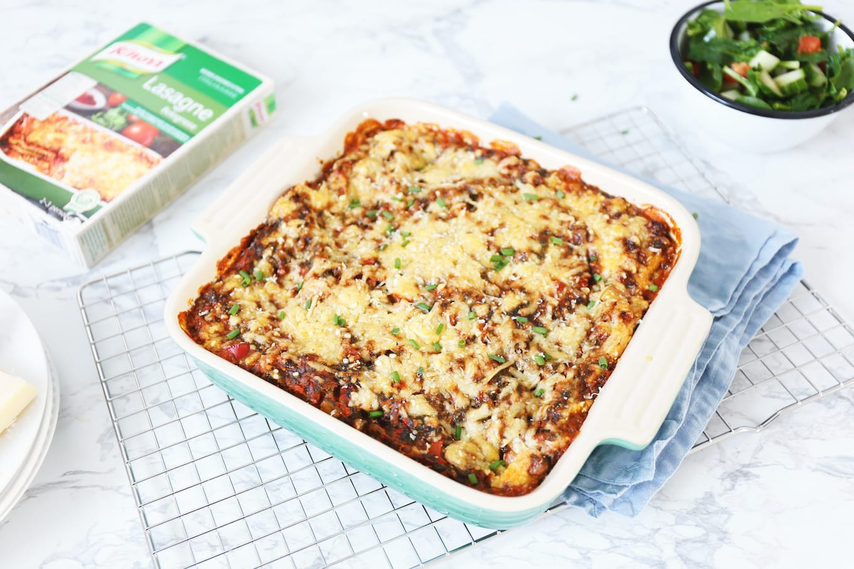 Lasagne boordevol groenten