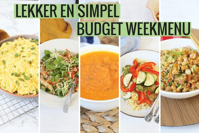 Lekker en Simpel budget weekmenu