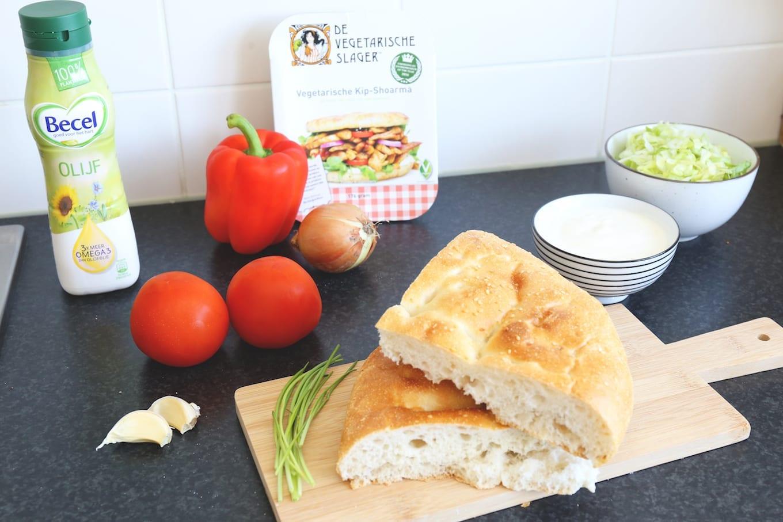 Broodje shoarma (vegan)