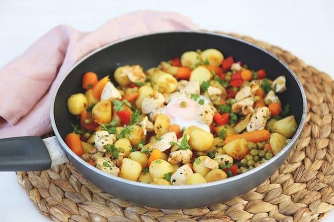 Kip-groentenschotel