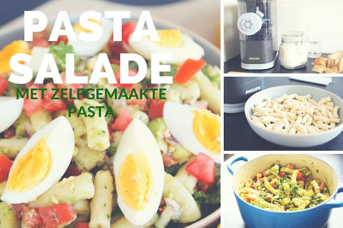 Pastasalade met avocado én zelfgemaakte pasta