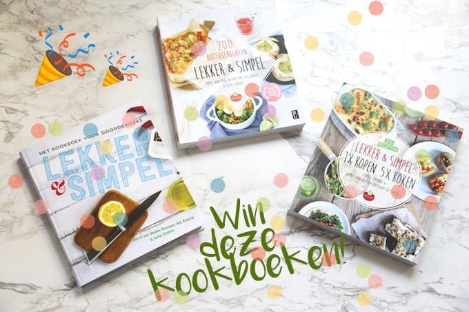 Win ons 1e, 2e en 3e kookboek