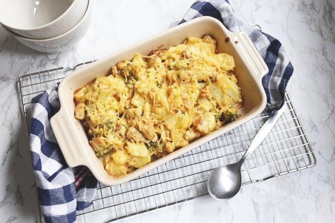 Romige ovenschotel met kip en broccoli