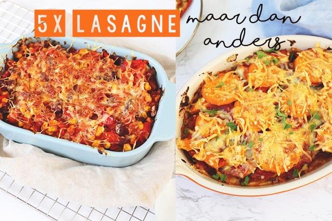 5x lasagne maar dan anders