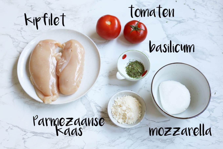 Italiaanse kipfilet met mozzarella en tomaat