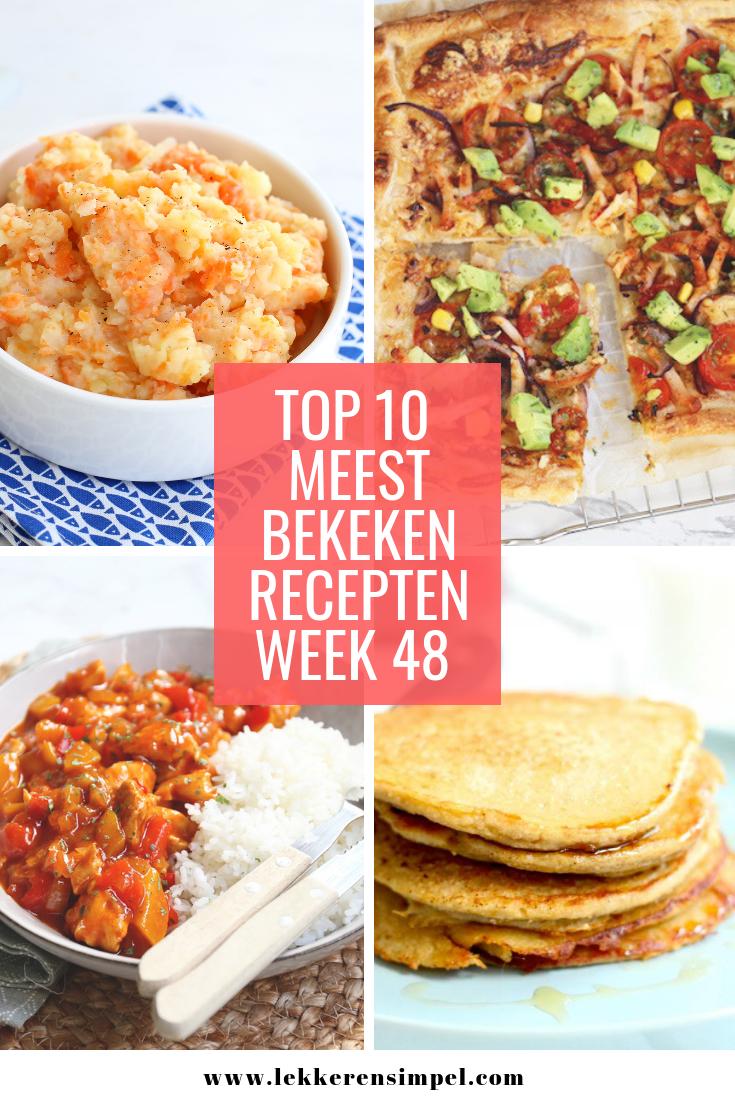 Best bekeken recepten week 48 - 2018