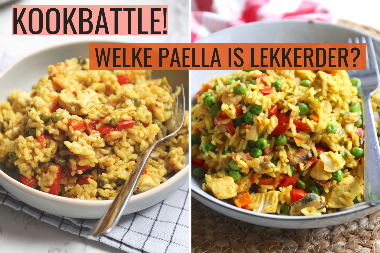 Sofie's paella recept VS. Knorr paella