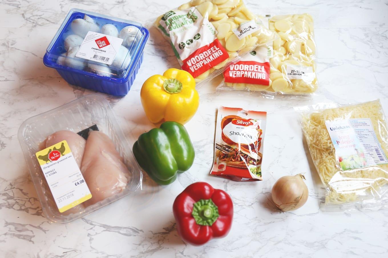 Shoarma-ovenschotel met kip