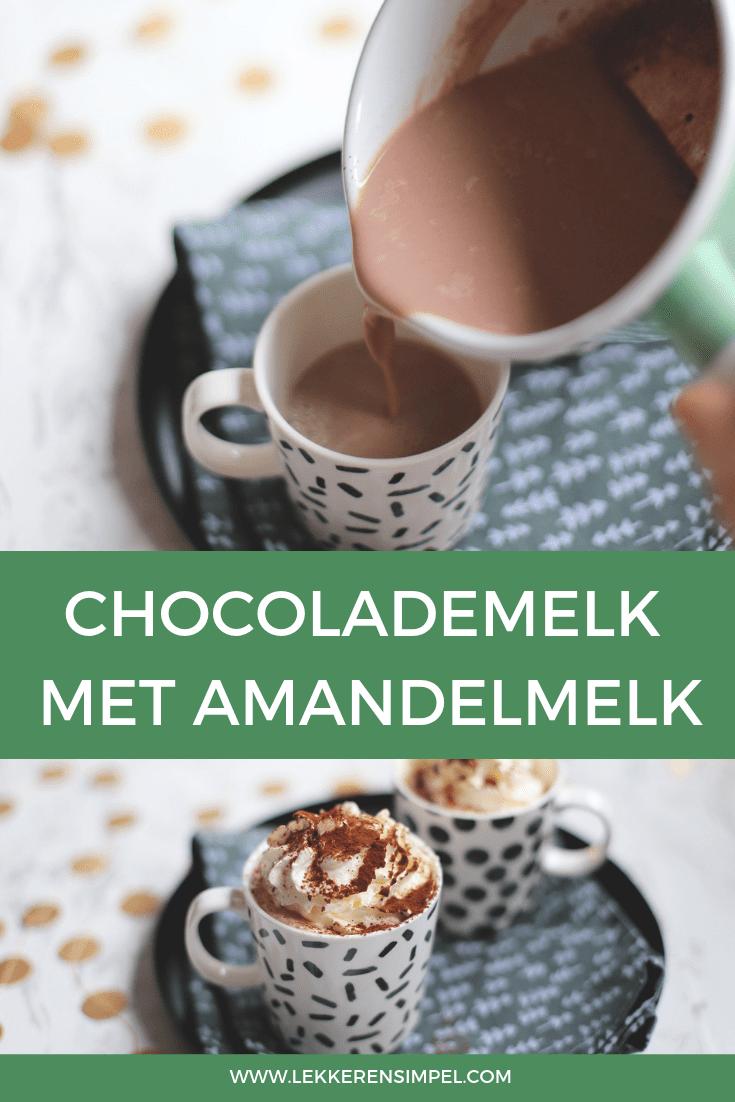 Chocolademelk met amandelmelk