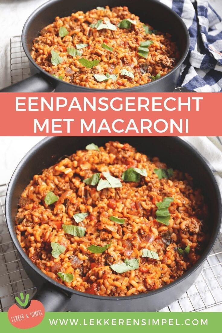 Eenpansgerecht met macaroni