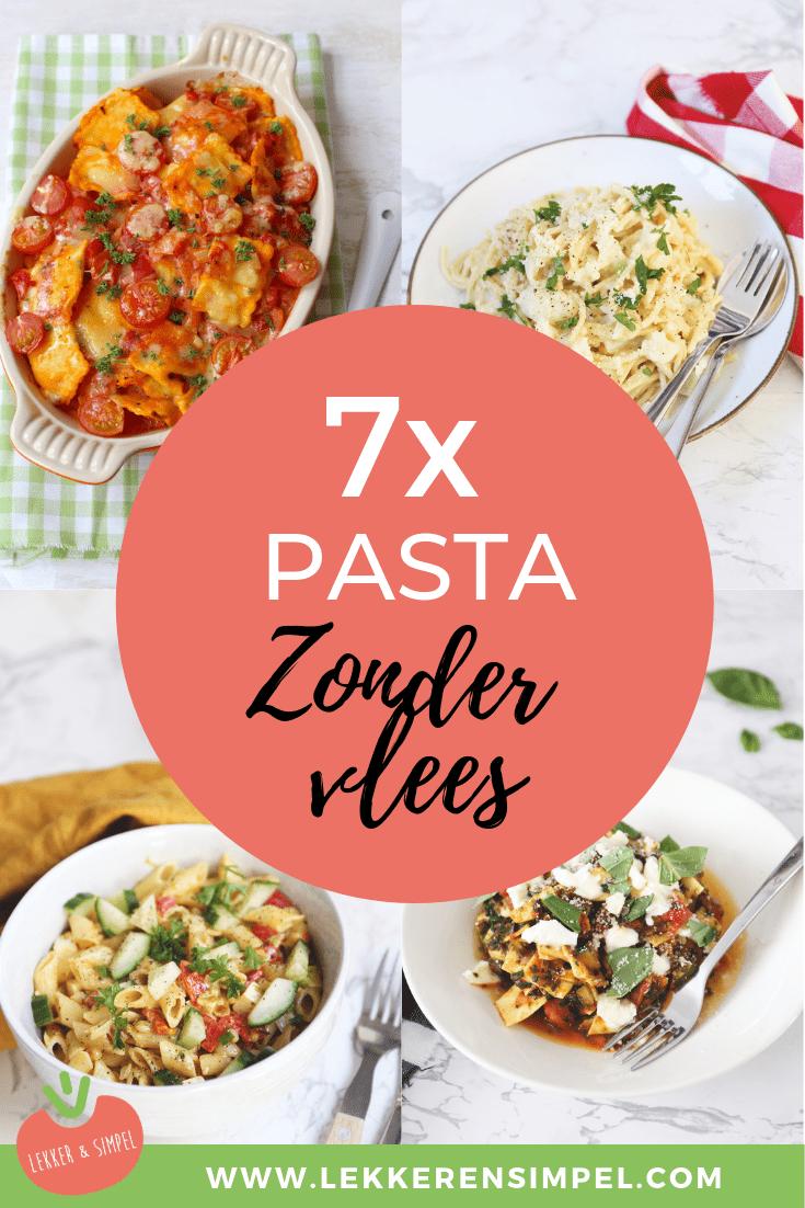 7x pasta zonder vlees