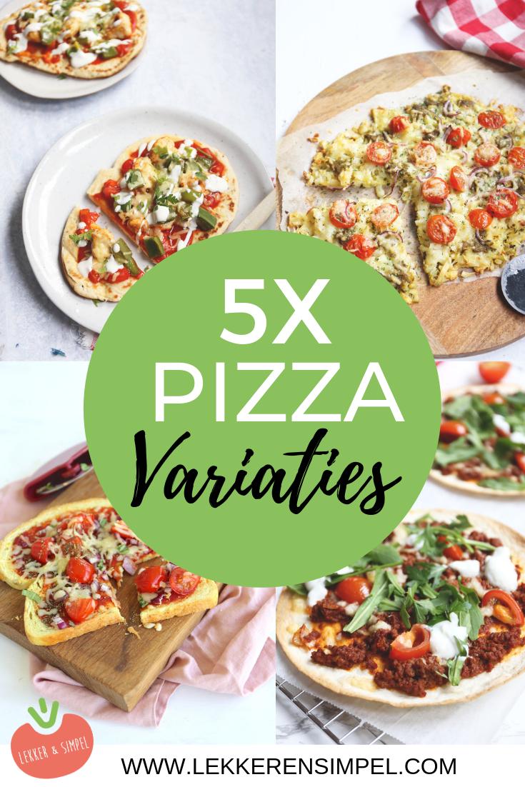 5x pizza variaties