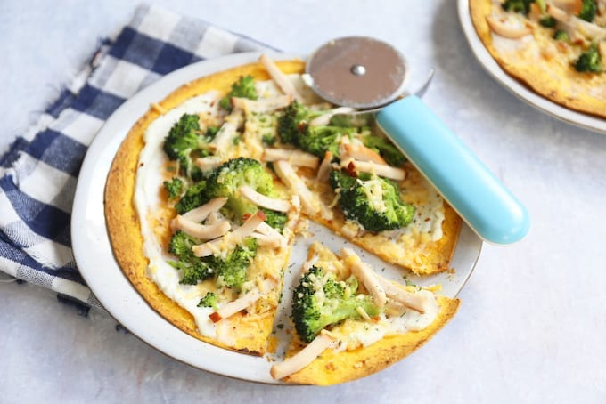 wrap pizza met ricotta