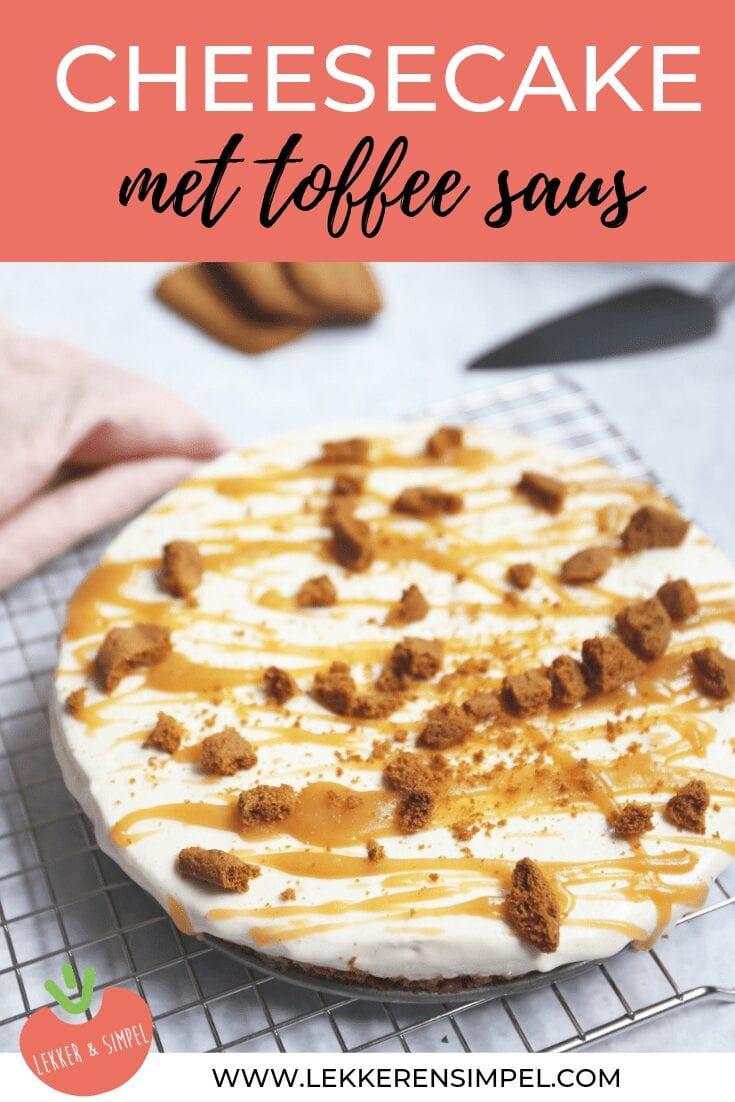Cheesecake met toffee saus