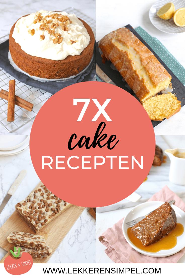 7x cake recepten