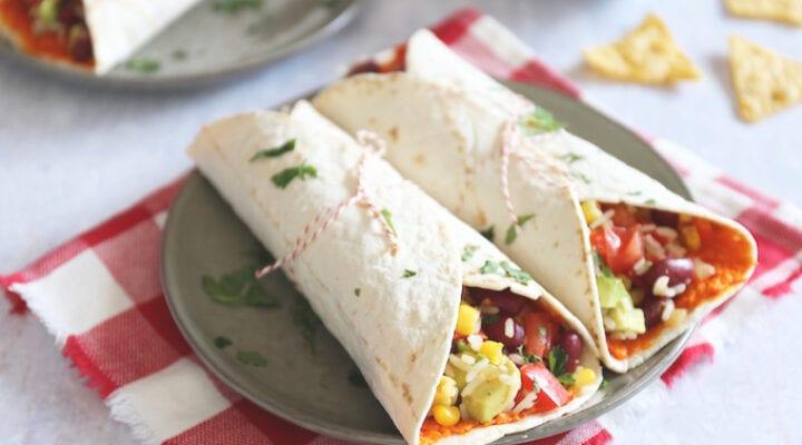 Vegetarische burrito's
