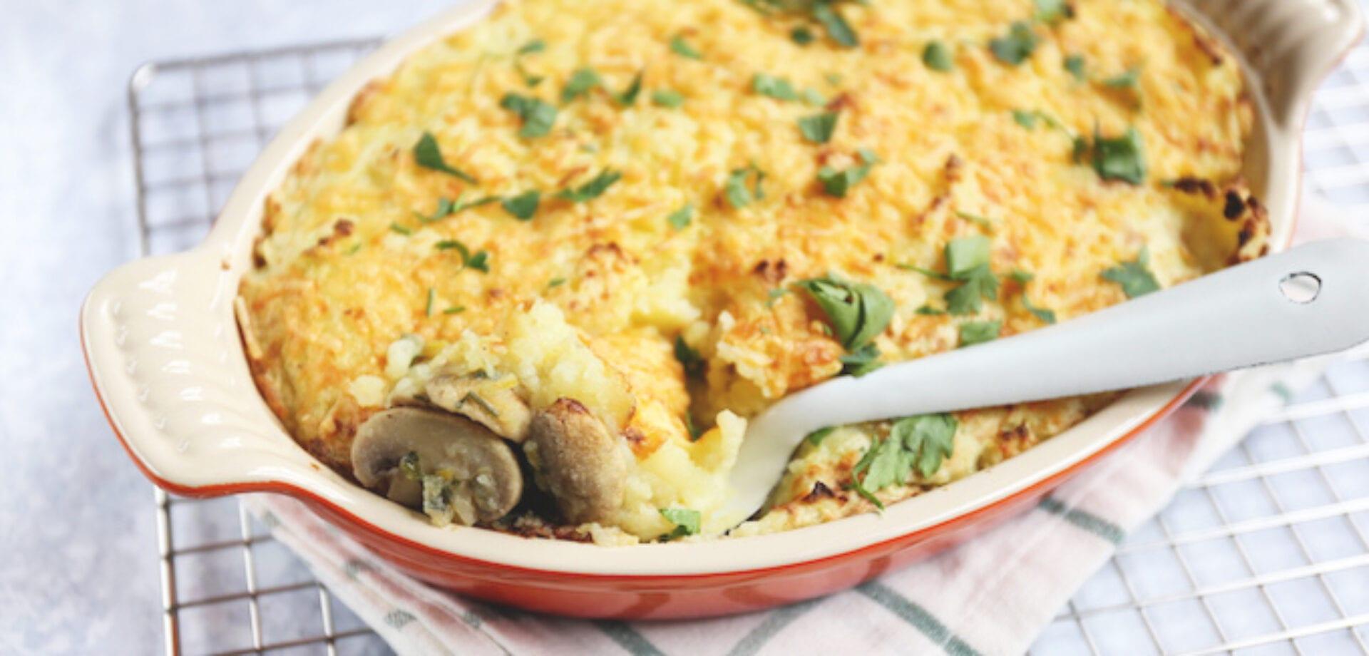 aardappelschotel met paling