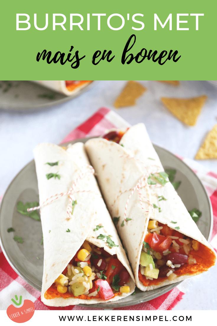 burrito's met mais en bonen