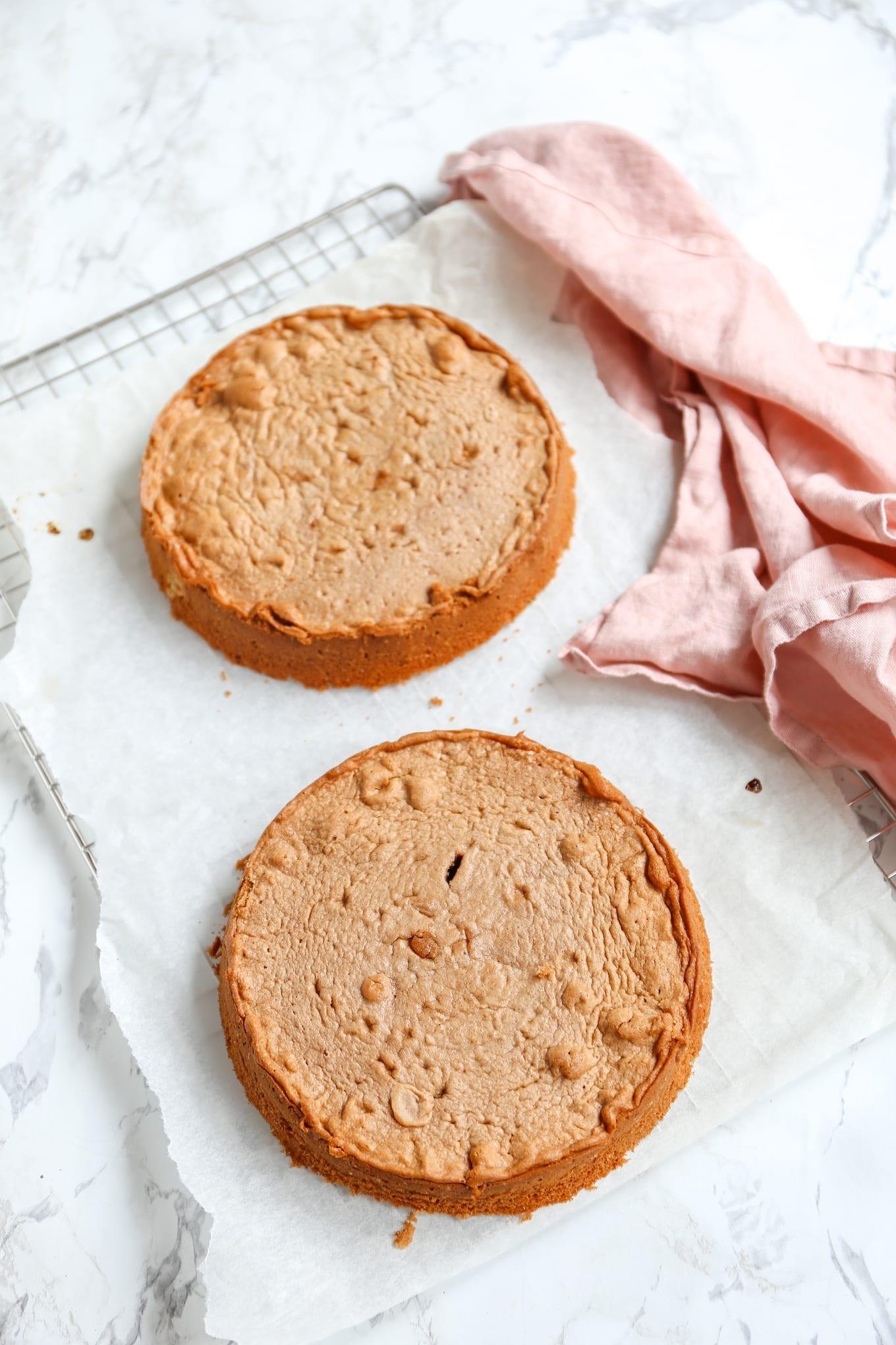 Basis cake voor een stapeltaart