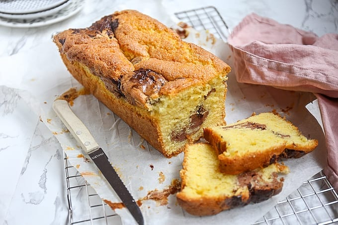 Cake met cheesecake swirl