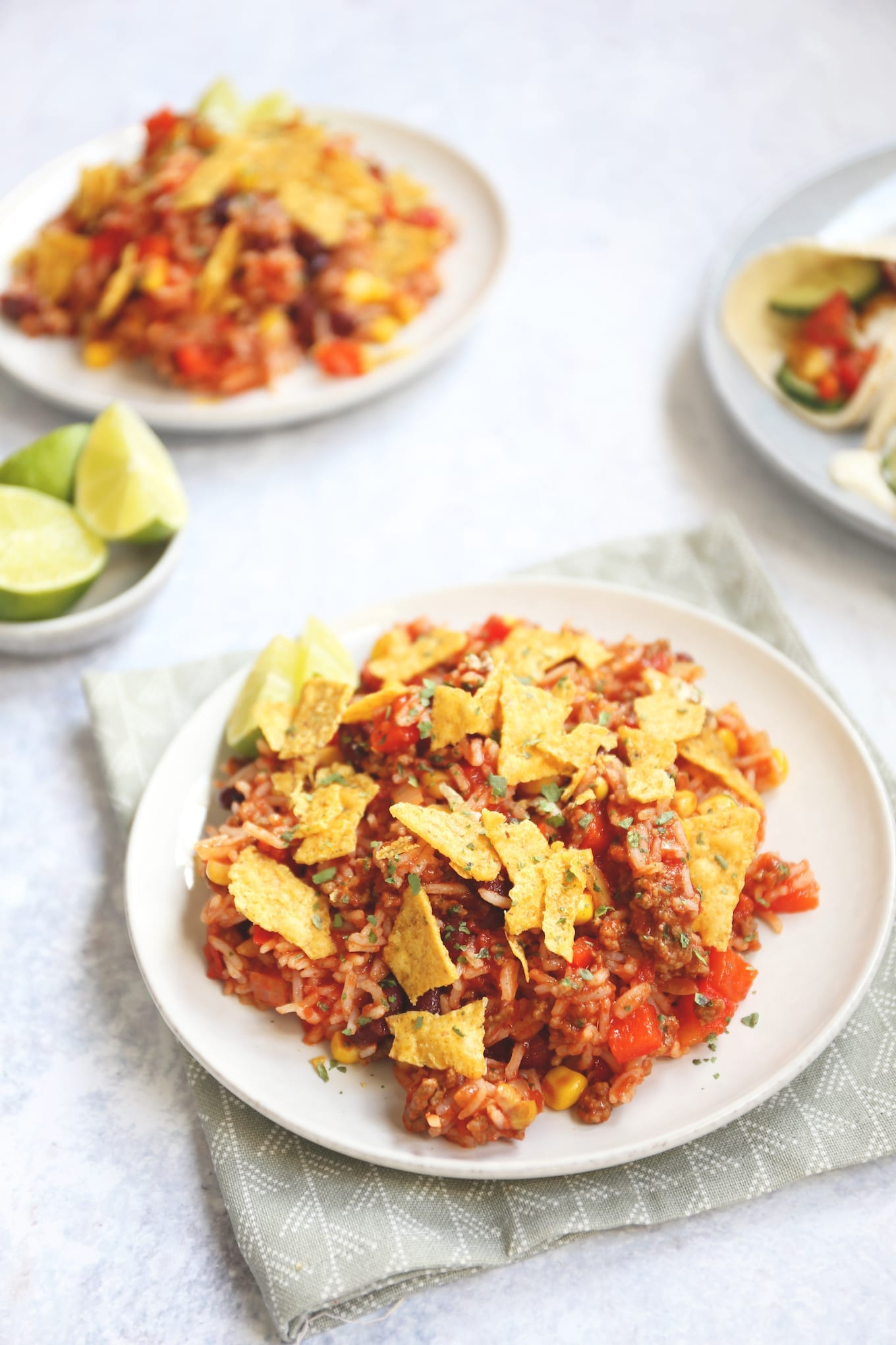 Mexicaanse rijstschotel met gehakt