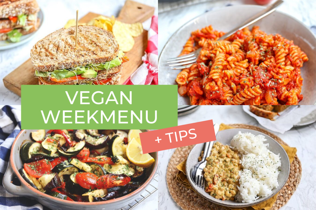 vegan weekmenu en tips