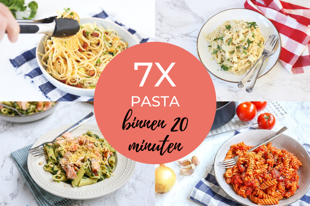 7x pasta binnen 20 minuten