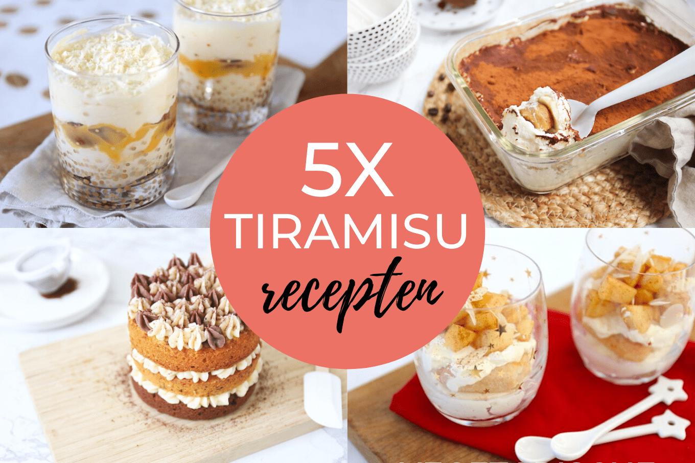5x tiramisu recepten